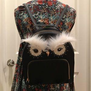 Kate spade owl Tomi black backpack star bright